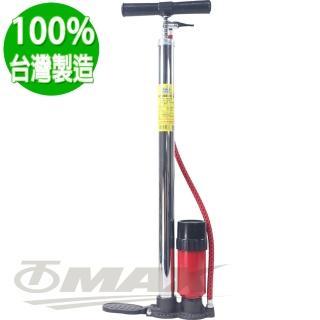 【鐵馬行】高壓直立式打氣筒附氣壓表802-台製(12H)