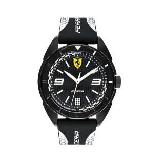 【Ferrari 法拉利】輪胎紋大三針橡膠時尚腕錶(0830519)