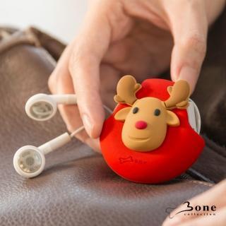 【Bone】Cord Pocket 收線扣 - 麋鹿(無毒認證矽膠 收線器 捲線)
