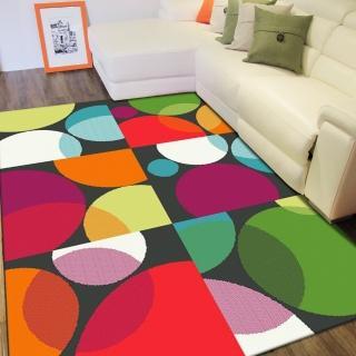 【范登伯格】SWING 玩色進口地毯-彩圓(120x170cm)