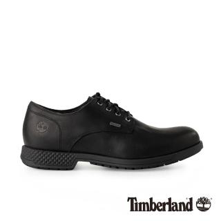 【Timberland】男款黑色全粒面皮革 Citys Edge 休閒鞋(A1SN9015)