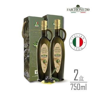 【母親節美型禮】法奇歐尼義大利莊園特級冷壓初榨橄欖油750ml羅馬瓶x2瓶組(莊園系列)