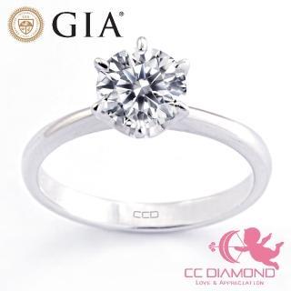 【CC Diamond】GIA一克拉 經典六爪鑽戒(好品質)