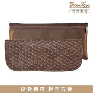 【BonTon】6支咖啡皮革編織刷具包