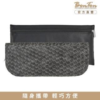 【BonTon】6支黑皮革編織刷具包