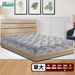 【IHouse】Minerva 拉韋納 天絲綠色環保硬式連結床墊(單大3.5x6.2尺)