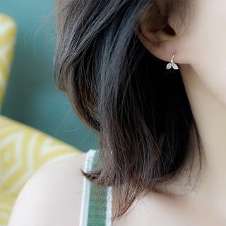 【梨花HaNA】韓國925銀清新森林豆苗勾勒耳環