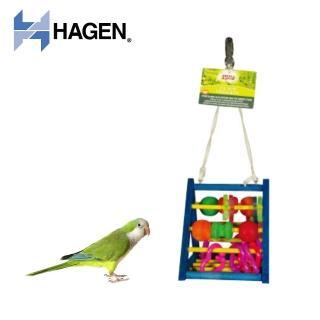 【HAGEN 赫根】Living World 鳥玩具金字塔益智遊戲組-中大型(81782)