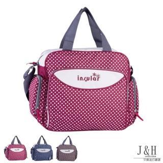 【J&H collection】時尚點點防水媽媽包(藍色 / 紅色 / 咖啡色)