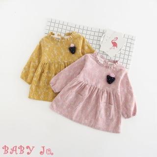【BABY Ju 寶貝啾】韓系公主長袖洋裝(粉色 / 黃色)