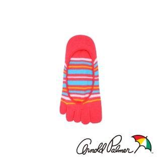 【Arnold Palmer】活力隱形止滑五趾女襪-桃紅(五趾襪/五指襪)