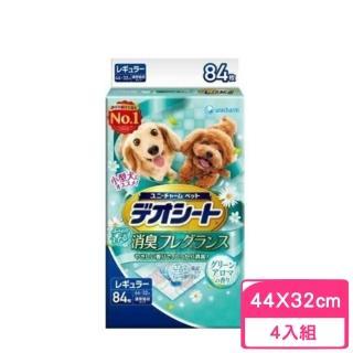 【Unicharm 消臭大師】小型犬狗尿布M84〈44*32cm〉森林香(4包組)