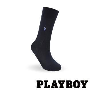 【PLAYBOY】簡約絲光紳士襪-丈青(紳士襪)