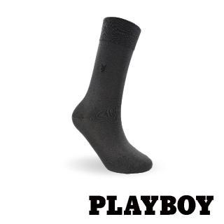 【PLAYBOY】簡約絲光紳士襪-鐵灰(紳士襪)