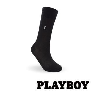 【PLAYBOY】簡約絲光紳士襪-黑(紳士襪)