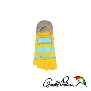 【Arnold Palmer】繽紛隱形止滑五趾女襪-黃(五趾襪/五指襪)