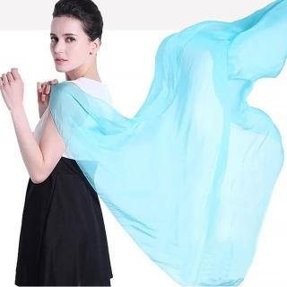 【Seoul Show首爾秀】仿真絲超大版素色雪紡圍巾披肩(防寒保暖)