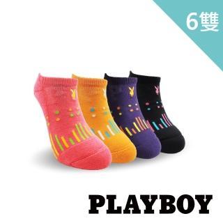 【PLAYBOY】點點雨滴運動女襪-買3件送3件組(運動襪)
