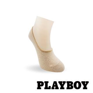 【PLAYBOY】止滑淺口隱形女襪-卡其(隱形襪)