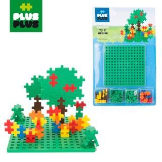 【BabyTiger 虎兒寶】++PLUS-PLUS 加加積木 MINI 小顆粒-彩虹系列(70PCS 小雞+創作底板)