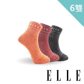 【ELLE】花紗條紋寬口女襪-買3件送3件組(寬口襪)