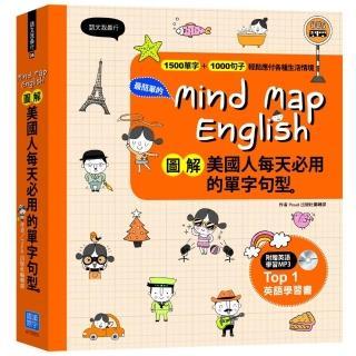 Mind Map English圖解美國人每天必用的單字句型+MP3