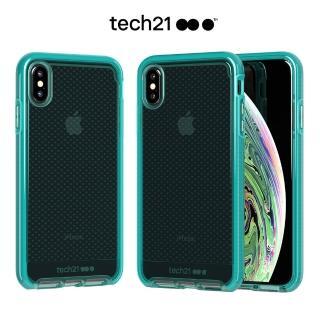 【tech21】英國Tech 21超衝擊EVO CHECK防撞軟質格紋保護殼-iPhone Xs 透綠(適用於 iPhone X / XS)