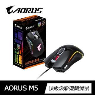 【GIGABYTE 技嘉】AORUS M5頂級煥彩遊戲滑鼠