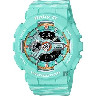 【CASIO 卡西歐】Baby-G Chance 米蘭設計手錶-翡翠綠(BA-110CH-3A)