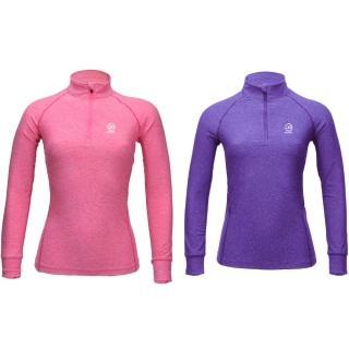 【SAMLIX 山力士】女款 快乾 彈性 健身 運動 立領 長袖 T恤 #SP302(快乾 彈性 健身 運動 立領 長袖 T恤)