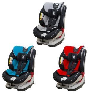 【麗嬰房】英國 COZY N SAFE 0-12歲isofix汽座 圓桌武士系列-亞瑟王(紅/灰/藍)