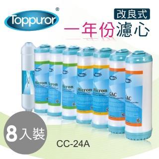 【Toppuror 泰浦樂】一年份濾心-TPR-RO系列專用(改良版濾心 CC-24A)