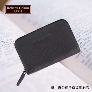~Roberta Colum~諾貝達男用皮夾 卡片夾 專櫃 軟牛皮短夾 24011~2咖啡