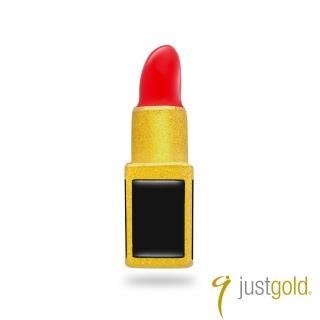 【Just Gold 鎮金店】繽紛派對系列 黃金單耳耳環-唇膏