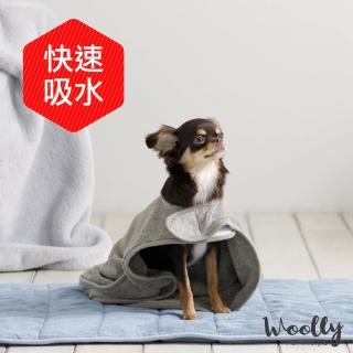 【Woolly】查理寵物吸水毛巾-浴袍款(寵物毛巾/擦巾)