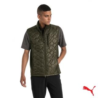 【PUMA】GOLF男運動機能保暖背心外套(綠576116 04)
