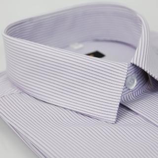 【金安德森】紫色條紋吸排窄版長袖襯衫-fast