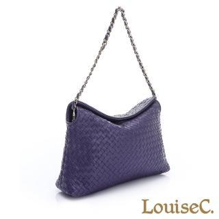 羊皮編織掀蓋式磁釦小包-紫色(05L05-0030A010)