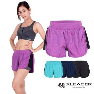 【LEADER】專業運動機能吸排4套組(運動內衣+假兩件短褲+假兩件長褲+壓縮長褲)