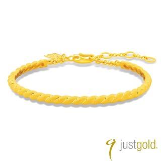 【Just Gold 鎮金店】環繞愛純金系列 黃金手環