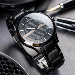 【ARMANI EXCHANGE】經典紳士格紋時尚腕錶(AX2104)