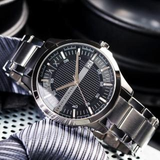 【ARMANI EXCHANGE】經典紳士格紋時尚腕錶(AX2103)
