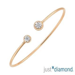 【Just Diamond】璀璨星光系列 18K玫瑰金 鑽石手環
