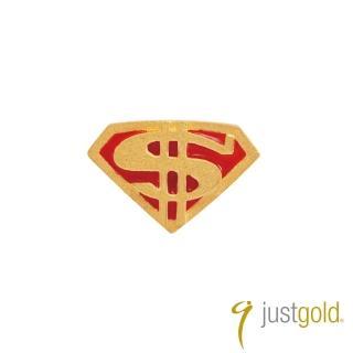 【Just Gold 鎮金店】繽紛派對系列 黃金單耳耳環-超級英雄