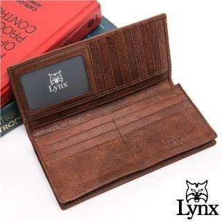 【Lynx】美國山貓進口牛皮系列14卡1照長夾-共2色