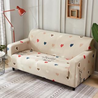 【歐卓拉】心心相印棉柔彈性沙發套3人座