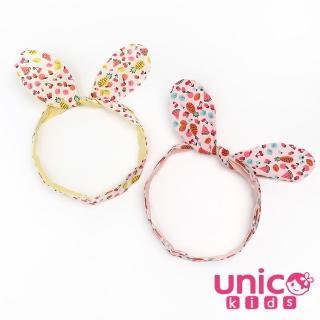 【UNICO】韓版 兒童可愛圖案造型兔耳朵髮帶(配件)