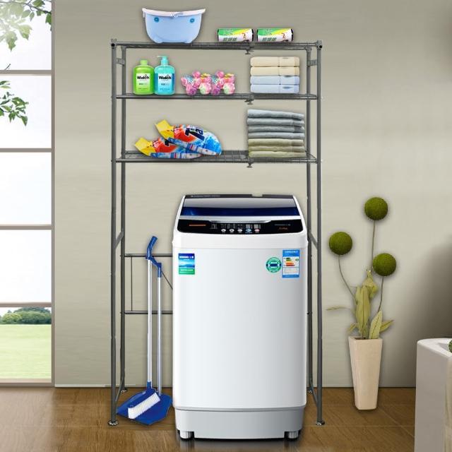 【巴塞隆納】巴塞隆納―三層層板伸縮洗衣機馬桶置物架V型設計強化結構/