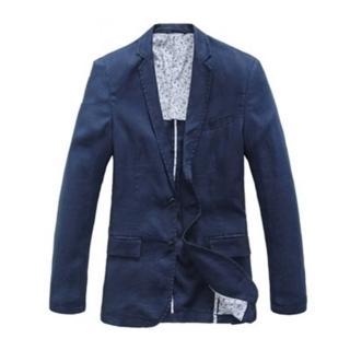 【米蘭精品】亞麻西裝外套(韓版修身透氣時尚薄款男外套4色68q2)