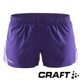 【CRAFT】女 Focus Race運動休閒短褲『紫』1903207(馬拉松 短跑 運動褲 慢跑褲 短褲 休閒褲 印花)